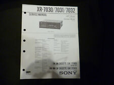 Original Service Manual Sony XR-7030/7031/7032