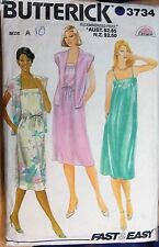 Vintage Butterick  sewing pattern no.3734  ladies dress size 10