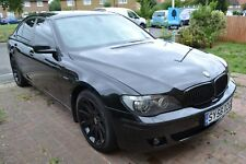 BMW 750i 7 Series Black Metallic Auto 4.8 v8 leather 2006 facelift Sport