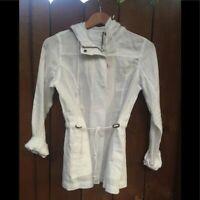 Tommy Bahama Two Palms White Linen Woven Drawstring Jacket New NWT Sz XS Resort