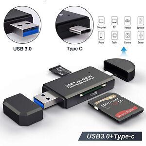 Type-C To USB 3.0 OTG Adapter Memory Card Reader For Smartphone Laptop Desktop