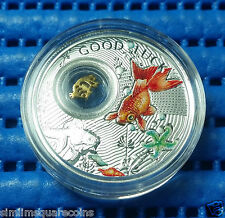 2014 Niue Island $1 Good Luck Series Goldfish Silver Proof Coin