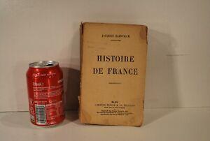 LIVRE LES GRANDES ETUDES HISTORIQUES HISTOIRE DE FRANCE BAINVILLE 1924
