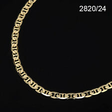 Men's 14K Yellow Gold Plated 24 Inches Link Chain Necklace 6 mm (2820 / 24)