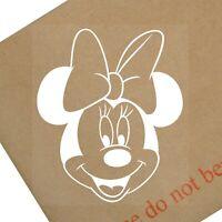 1 X Minnie Mouse-blanco-Gracioso Pegatina De Coche Graphic Vinilo Calcomanía Decoración para Regalo Nuevo