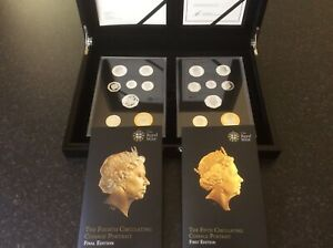 Royal Mint 2015 SOLID SILVER Set (16 Coins) 4th & 5th Portrait. Silver PROOF.