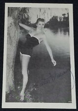 1950's - ESTHER WILLIAMS - SWIMMER & ACTRESS - AUTOGRAPH - PHOTO - ORIGINAL