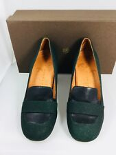 CHIE MIHARA NEW Green Sar Heeled Loafer Pump Size 38.5 $380