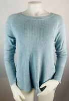 cabi #5133 Womens Small Sweater Blue Sky Swing Ribbed Knit Crewneck Pullover
