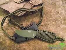 Couteau ESEE Izula OD Green Acier Carbone 1095 Manche Paracorde USA ESRCIODPC