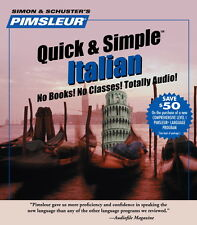 New 4 CD Pimsleur Learn to Speak Italian Language