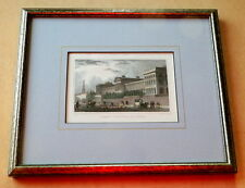 VINTAGE HAND-TINTED ENGRAVINGS OF ST. LUKES LUNATIC HOSPITAL & CHELSEA HOSPITAL