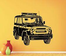 Russian Police Car UAZ Wall Decal Garage Vinyl Sticker Art Decor Mural 2thn