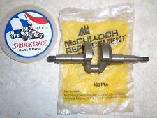VINTAGE RACING GO KART NOS McCULLOCH CRANKSHAFT MC 20 30 45 LH REPLACEMENT PART