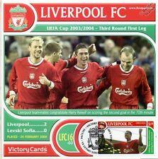 Liverpool 2003-04 Levski Sofia (Harry Kewell) Football Stamp Victory Card #316