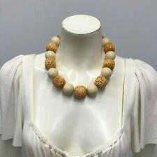 2a799f85b64d Cerradura De Ley Collar de hueso bovino Nanni increíble declaración grueso  jumbo Costura artística