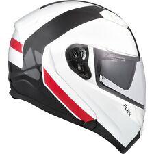 Motorcycle Helmet Modular Flip Up CKX Flex RSV Chicane Large White Black Red