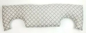 Pink Pepper Co Grey And White Breast Cancer Post Chest Pillow