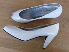 4.1) Charles Jourdan peeptoes heels Gr.US 9 1/2 B (ca.EU 40) Ganzleder vintage