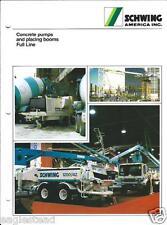 Equipment Brochure - Schwing - Concrete Pump Placing Boom Product Line (E2554)