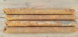 Vintage Window Weights Antique Architectural Salvage Cast Iron 7-8 lb 18-19 inch