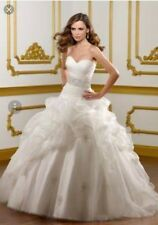 Mori lee designer Wedding dress size 12/14 good as new worn once for a few hours