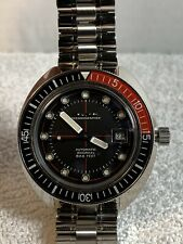 Bulova Oceanographer Automatic Black Dial Men's Watch 98B320 sapphire crystal