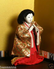 """Antique 5.5""""  Pre-1912 Asian Kneeling Lady-in-Waiting Hina Doll  AAD4161415ae"""