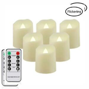 Flameless Candles with Remote LED Votive Tea 6 Pack, Warm White