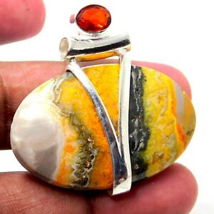 Bumble Bee Jasper 925 Sterling Silver Plated Handmade Jewelry Pendant 16 Gm-IN2