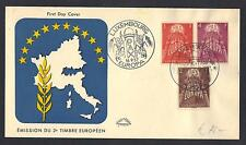 LUXEMBOURG 1957 EUROPA FDC Sc 329-331 VERY FINE