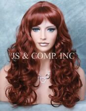 BOUNCY LONG WAVY Curly WIG with bangs A Must Have JSCA 130 Fox Red