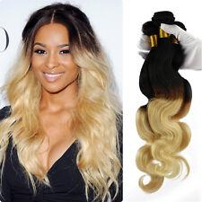 "1 Bundle 28"" Long Brazilian Virgin Body Wave Human Hair Extension 50g #1B/613"