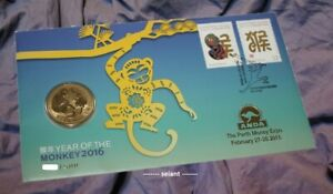 2016 $1 ANDA Year of the Monkey Lunar PNC  / FDC 'P' Mintmark RARE 500 ONLY UNC