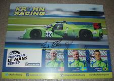 Le Mans FIA WEC ELMS 2015 Krohn Racing Oak Ligier JSP2 4TH Place LMP2 Signed