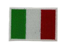 Bandiera patch toppe toppa ricamata italia 3x5cm backpack termoadesivo