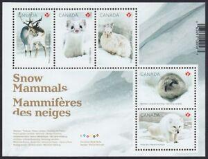 Canada 2021 = SNOW MAMMALS = ARCTIC FOX, DEER, RABBIT, LEMMING = SS MNH