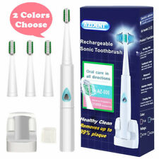 AZDENT Sonic Electric Wireless Rechargeable Electric Toothbrush Blue/Pink Color
