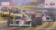 1988a McLAREN-HONDA MP4/4s, BENETTON-COSWORTH  F1 Cover signed LUIS PEREZ SALAS