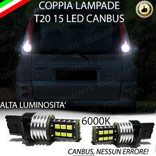 COPPIA LUCI RETROMARCIA 15 LED T20 W21W CANBUS TOYOTA YARIS VERSO NO ERROR