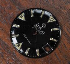 Vintage ZODIAC Seawolf Date Swiss Tritium Glossy Black Dial Spare Part Watch