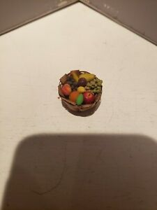 Dollhouse Miniature Basket of Fruit