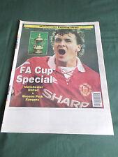 MANCHESTER UNITED v QPR - EVENING NEWS SOUVENIR-  F.A CUP SPECIAL  -1995
