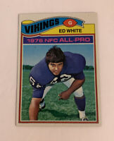 1977 Ed White # 30 Minnesota Vikings Topps NFL Football Card
