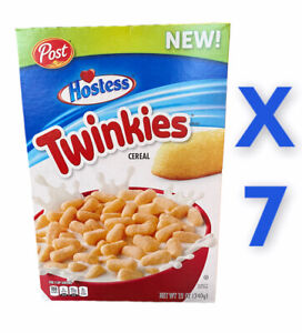 (7) NEW POST HOSTESS TWINKIES CEREAL 12 OZ BEST BY 12/2020