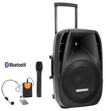 "SET 15"" ALTAVOZ MONITOR PORTATIL ACTIVO BLUETOOTH MP3 SD HEADSET MICROFONO 200W"
