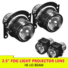 Pair 2.5inch Projector Lens HID Fog Light Bi Xenon Hi-Lo For H11 H8 H9 Retrofit
