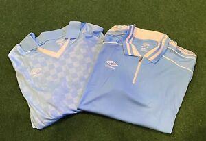 new Umbro Premier men polo shirt jersey UUM1UAG1 sky blue white sz XL 2 Shirts