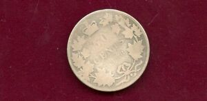 """CANADA (SCARCE) DATE 1888 VICTORIAN SILVER (STERLING) 50 CENT """"LOW GRADE"""" OH2 WI"""