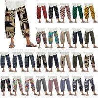 ZANZEA Women Pants Casual Harem Pants Floral Print Baggy Long Trousers Plus Size